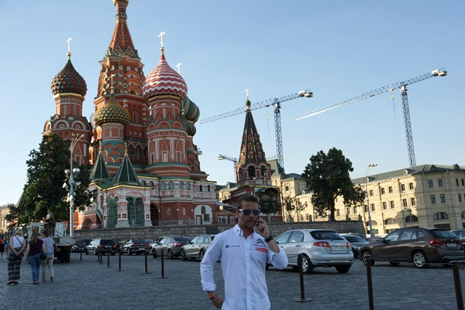 Себастьен Лёб на Красной площади