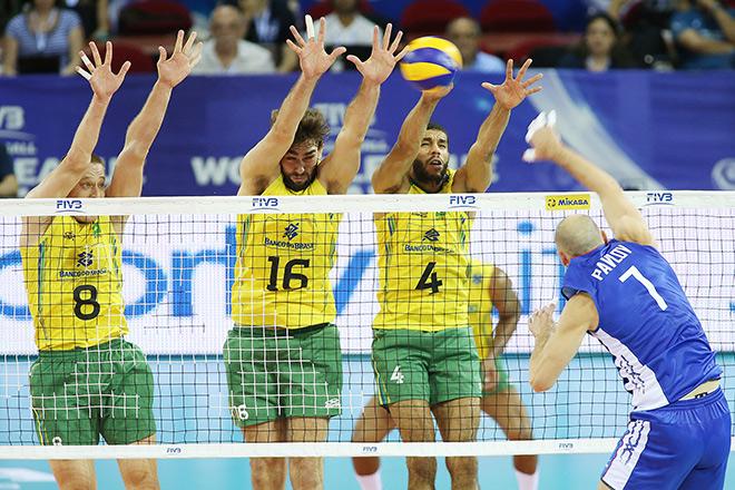 Волейбол. Мировая Лига. Россия — Бразилия — 1:3