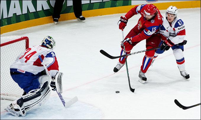 6 мая 2012 года. Стокгольм. Чемпионат мира. Групповой турнир. Россия — Норвегия — 4:2
