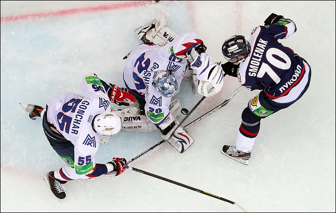 Радек Смоленяк и его первый гол в КХЛ