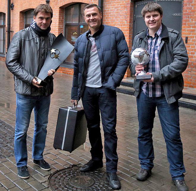 Михаил Лихачёв, Дмитрий Горин и журналист «Чемпионата» Андрей Иванов