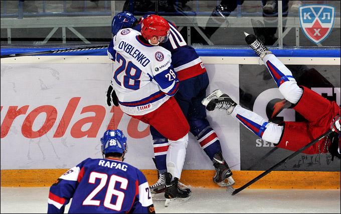 Ярослав Дыбленко против сборной Словакии