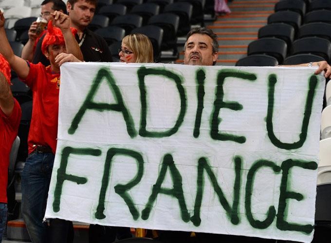 Испанцы проводили Францию с Евро