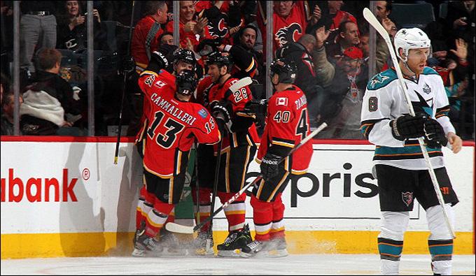 "6 марта 2013 года. Калгари. Регулярный чемпионат НХЛ. ""Калгари Флэймз"" – ""Сан-Хосе Шаркс"" – 4:1"