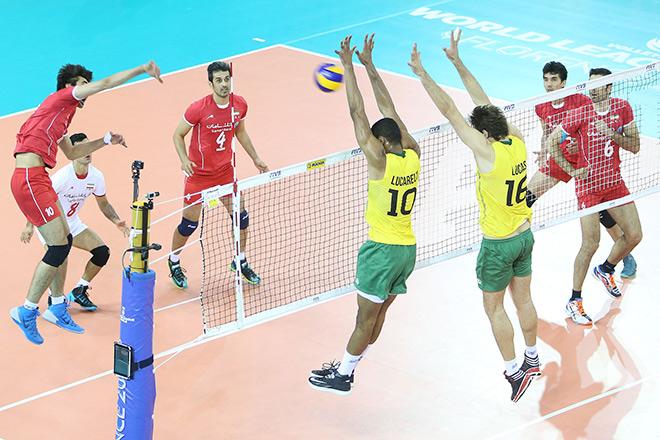 Волейбол. Мировая Лига. Бразилия — Иран — 1:3