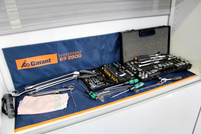 Инструменты механиков всегда готовы к работе