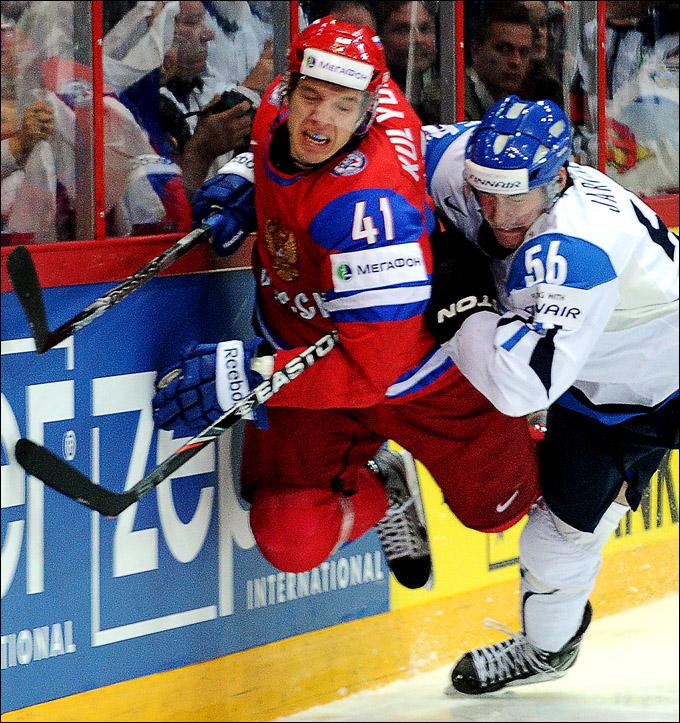Николай Кулёмин против сборной Финляндии
