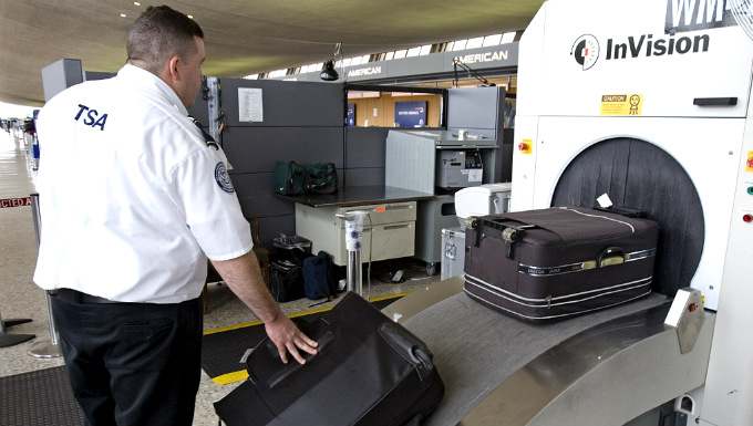 Зона досмотра багажа