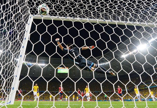 ЧМ-2014. Бразилия – Колумбия – 2:1. Гол Давида Луиса