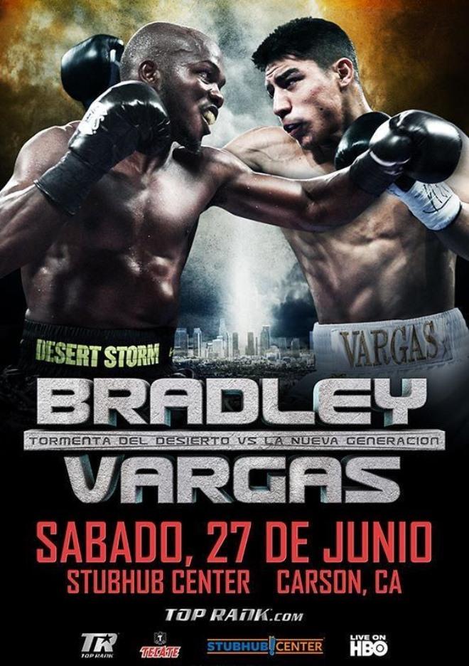 Постер к бою Брэдли — Варгас