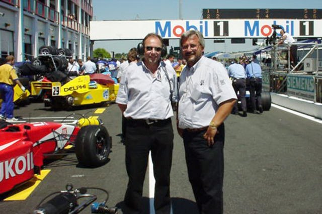 Александр Требитш (справа) в Формуле-3000