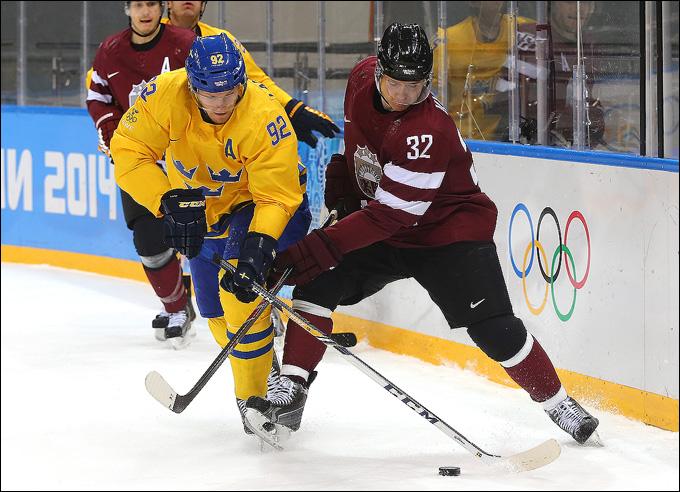 Габриэль Ландеског против сборной Латвии