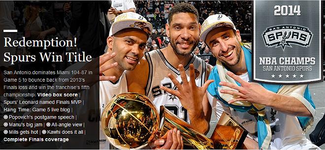 NBA: «Расплата. «Спёрс» завоевали титул»