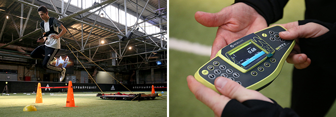Тренировки на adidas THEBASE Football