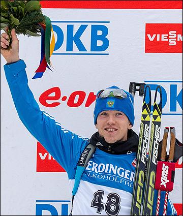 Алексей Волков впервые в карьере взошёл на пьедестал в гонке с общего старта