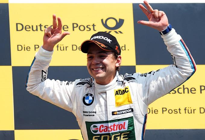Аугусто Фарфус празднует победу на первом этапе DTM