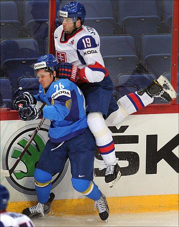9 мая 2012 года. Хельсинки. Чемпионат мира. Групповой турнир. Словакия — Казахстан — 3:2