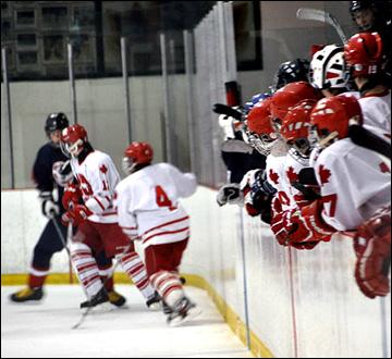 Детская хоккейная команда Нотр-Дама