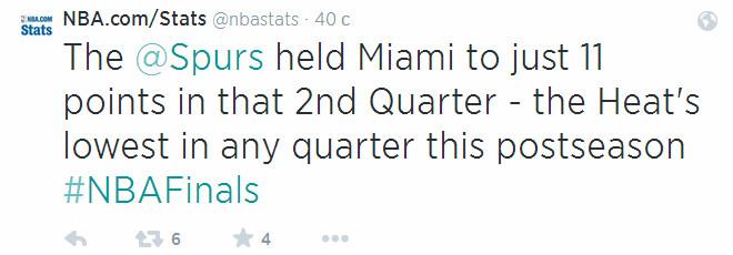 Пока все отдыхали выяснилось, что 11 очков за четверть (вторую. разумеется) – новый антирекорд «Майами» в нынешнем плей-офф.