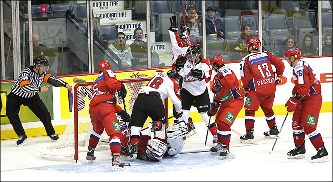 18 ноября 2011 года. Мус-Джоу. Subway Super Series-2011. 6-й матч. Россия (U-20) — Канада (WHL) — 7:5