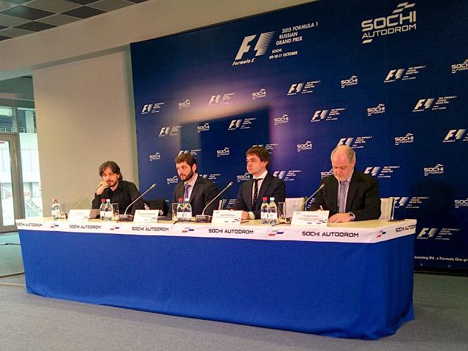 Пресс-конференция на «Сочи Автодроме»