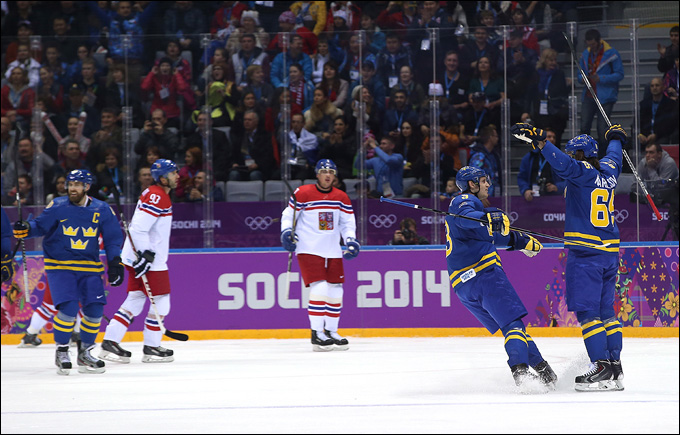 12 февраля 2014 года. Сочи. XXII Зимние Олимпийские игры. Хоккей. Групповой этап. Швеция — Чехия — 4:2