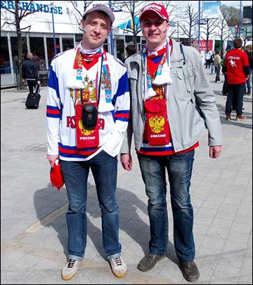 Российские болельщики в Стокгольме и Хельсинки