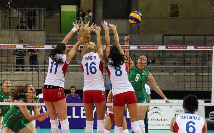 Чемпионат Европы по волейболу. Женщины. Россия — Белоруссия — 3:1