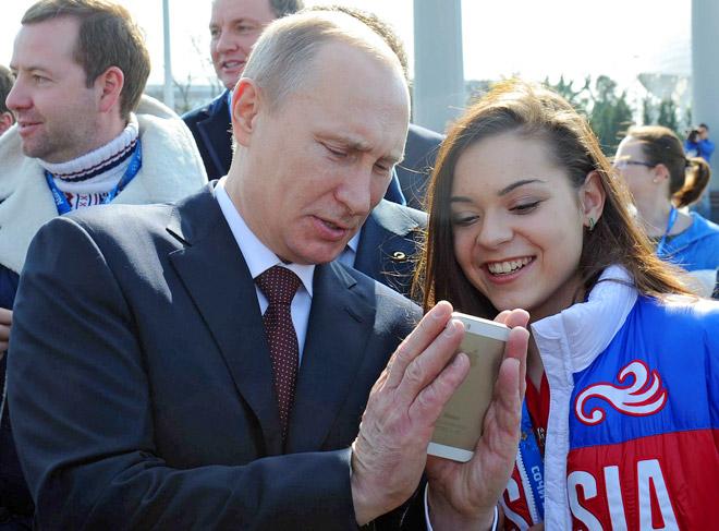 Владимир Путин и Аделина Сотникова