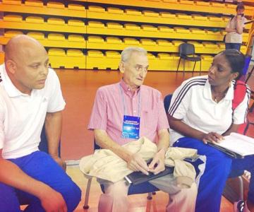 Эухенио Хорхе — президент федерации волейбола Кубы и Регла Торрес