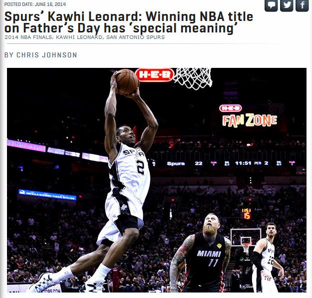 Point Forward: «Кавай Леонард: выиграть титул в День отца имеет для меня особое значение»