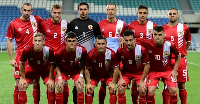 Сборная Гибралтара перед дебютным официальным матчем