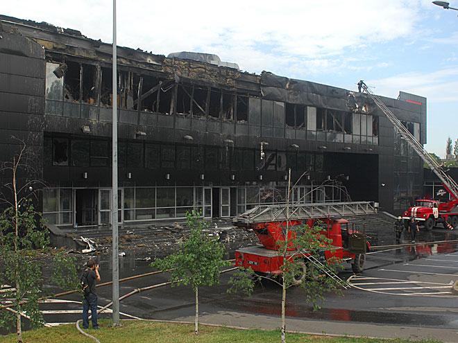 Последствия пожара на арене «Дружба»