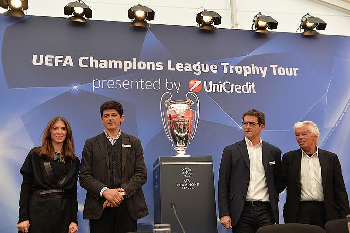 Фабио Капелло в роли посла специального тура Лиги чемпионов