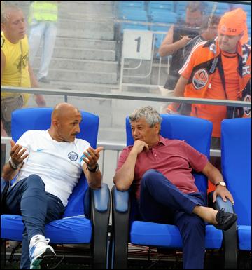 Лучано Спалетти и Мирча Луческу
