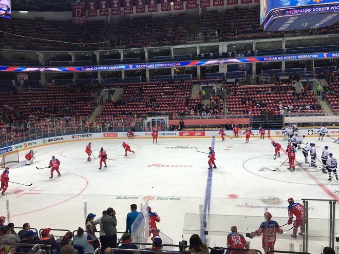 Раскатка перед матчем Россия — Финляндия