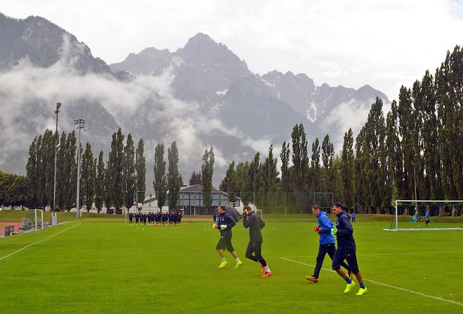 Тренировка с видом на горы