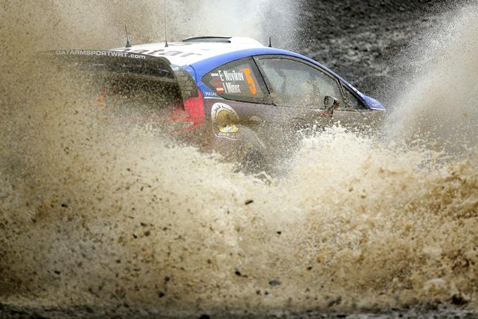 Евгений Новиков на заключительном этапе WRC