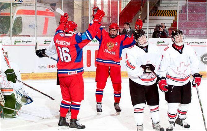 19 апреля 2011 года. Криммитшау. Чемпионат мира U-18. Россия – Швейцария – 8:3.