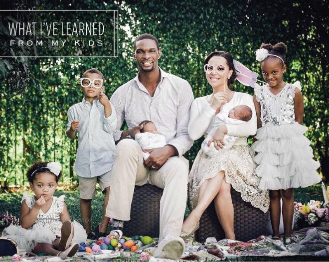 Крис Бош и его дети
