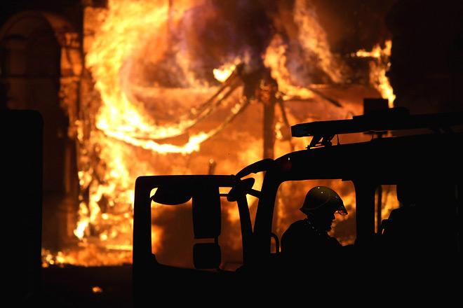 В доме Блэйка произошёл сильный пожар