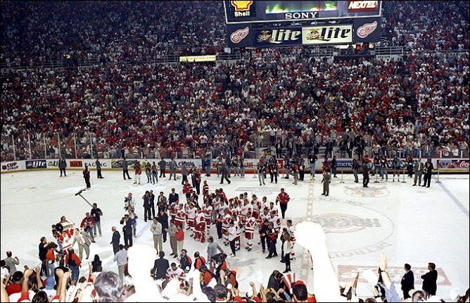 Фрагменты сезона. 7 июня 1997 года. Финал. Первые минуты после победы.