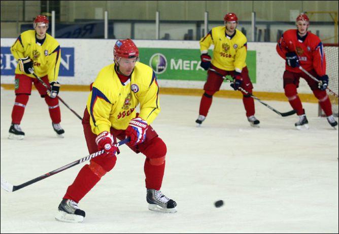 19 апреля 2011 года. Новогорск. Тренировка сборной России. Илья Ковальчук.
