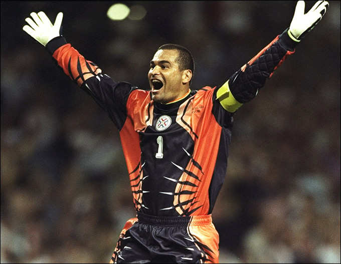 Вратарь сборной Парагвая Хосе-Луис Чилаверт