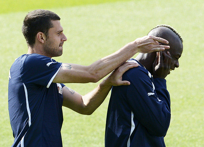 Тьяго Мотта и Марио Балотелли