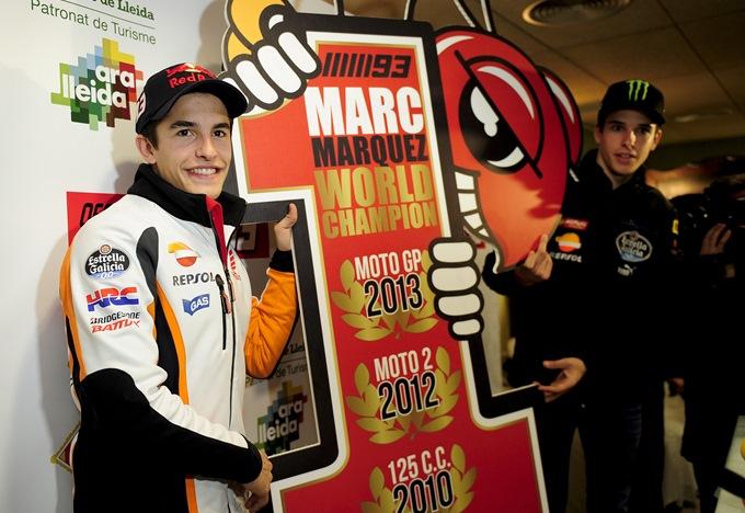 Маркес празднует завоевание чемпионского титула