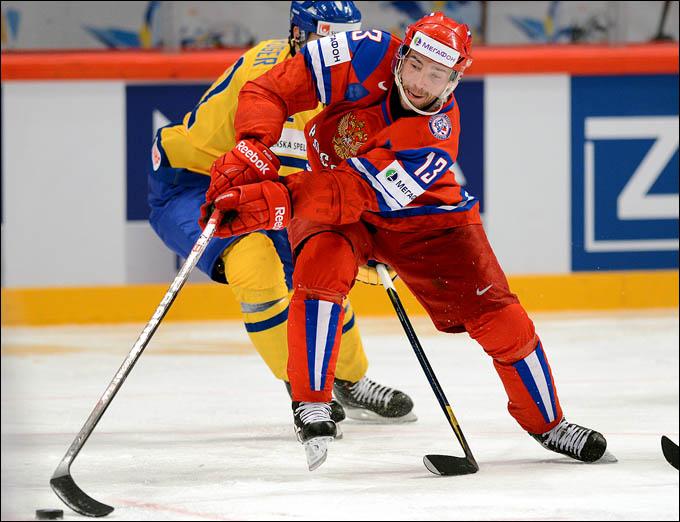 Павел Дацюк против сборной Швеции