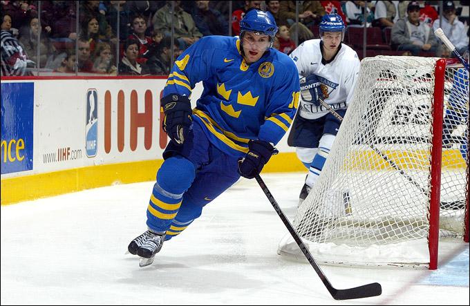 Никлас Бергфорс в молодежной сборной Швеции. Фото 2006 года