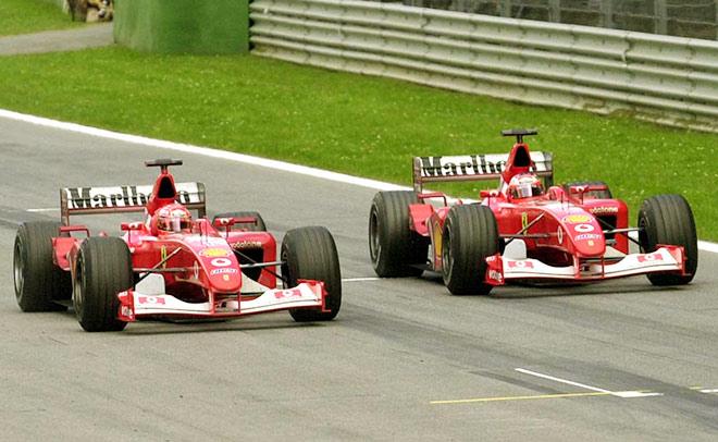 Шумахер опережает Баррикелло на финише Гран-при Австрии