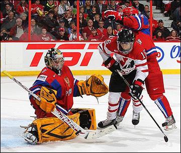 Анна Пругова против сборной Канады на чемпионате мира